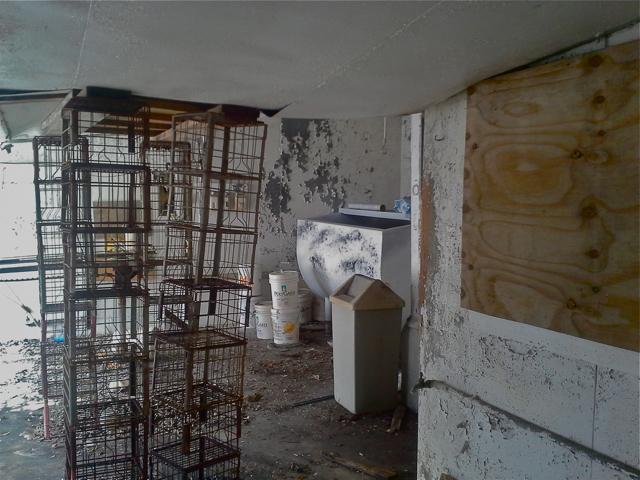 Old milk crates!
