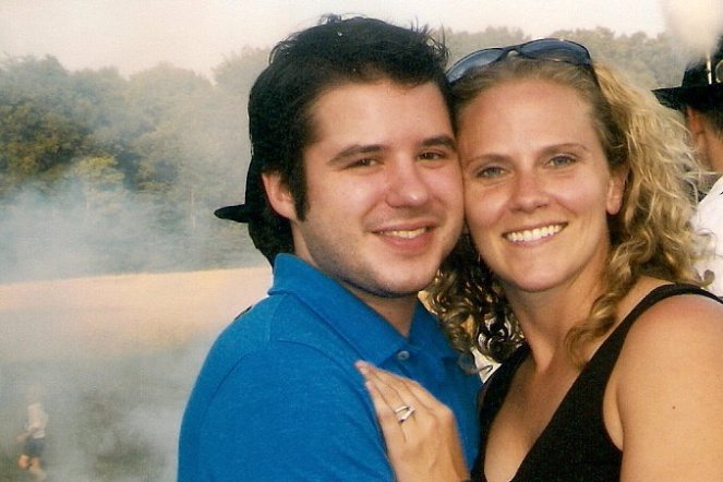 My brother Matt and sister-in-law Dyane celebrating their engagement at the Sonnenwendfeier party, June 2010.