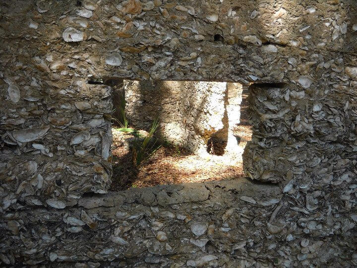 Tabby ruins of slave quarters at 'The Thicket' a sugar plantation/rum distillery, Tolomato Island, GA.